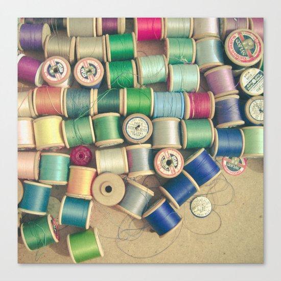 Cotton Reels Canvas Print