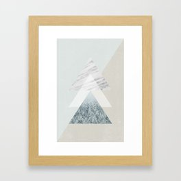 Snow into the forest Framed Art Print