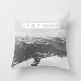 Stay High II Throw Pillow