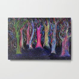Shining forest Metal Print