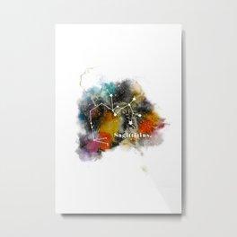 Galaxy SAGITTARIUS Star Sign Astrology Watercolour Rainbow Art Print Art Print Metal Print