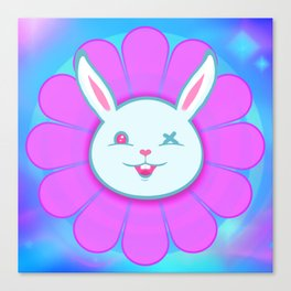 Ouch Bunny Flower Power! Canvas Print