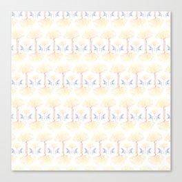 Ginkgo Gradient (white) Canvas Print
