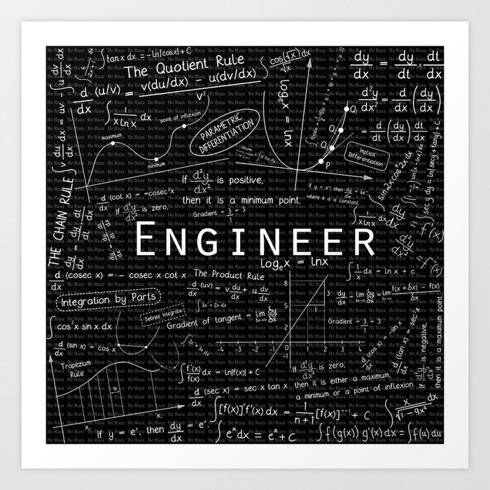 BLACK - ENGINEER Art Print