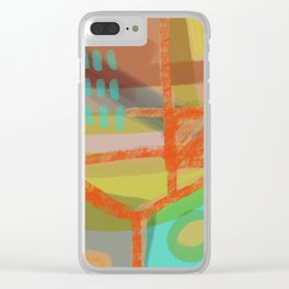 Shapes and Layer no.8 - Abstract painting Clear iPhone Case