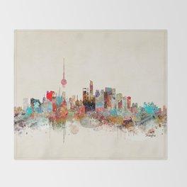 shanghai city skyline Throw Blanket