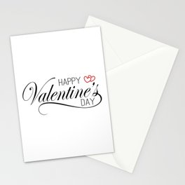 Elegant and Lovely Happy Valentine's Day Calligraphy Greeting Stationery Cards