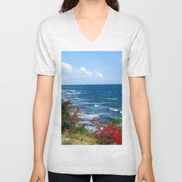View near the Old lighthouse @ Rincon Unisex V-Neck