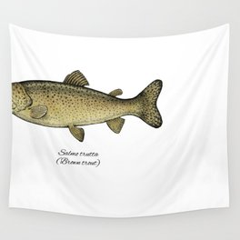 Brown trout Wall Tapestry