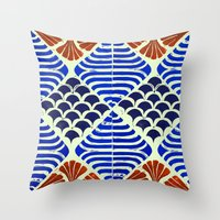 florence Throw Pillows featuring Florence  by Indigo Images