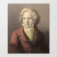 beethoven Canvas Prints featuring Beethoven by Palazzo Art Gallery