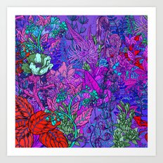 Electric Garden Art Print
