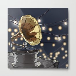 Music Outside Metal Print