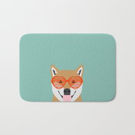 Shiba Inu Love - Gifts for pet owners dog person gifts shiba inu gifts customizable dog gifts cute Bath Mat