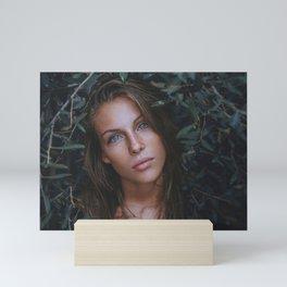 Beautiful Woman With Blue Eyes Mini Art Print