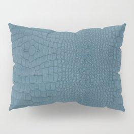 Turquoise Alligator Leather Print Pillow Sham