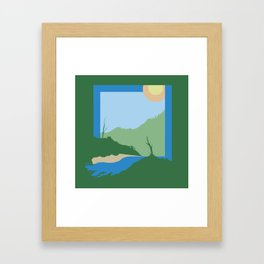 Unnatural Boundaries Framed Art Print