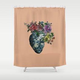 Flowered Heart Shower Curtain