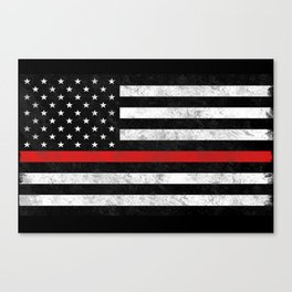Thin Red Line Canvas Print