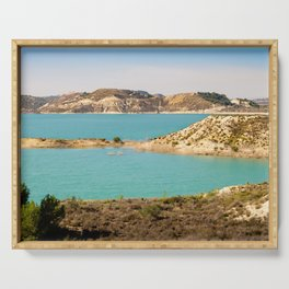 Turquoise Reservoir Serving Tray