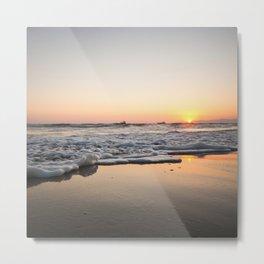 Manhattan Beach Sunset (El Porto) Metal Print