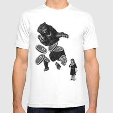 Bear and girl MEDIUM White Mens Fitted Tee