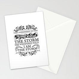 I Am The Storm She Whispered Back Stationery Cards