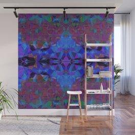 Cobalt Hex Wall Mural