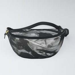 Black Abstract Rectangles Fanny Pack