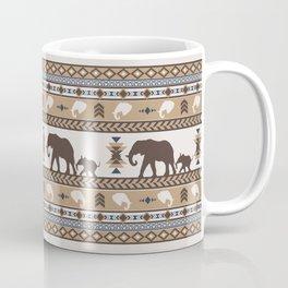 Boho animals | Elephants tan Coffee Mug