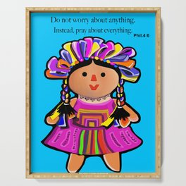 Phil.4:6 Do Not Worry Doll Serving Tray