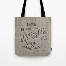 Hand lettering engine block Tote Bag