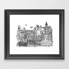 Busy City – Bristol, UK Framed Art Print