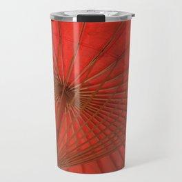 Big Asia Umbrella Red Colors Travel Mug