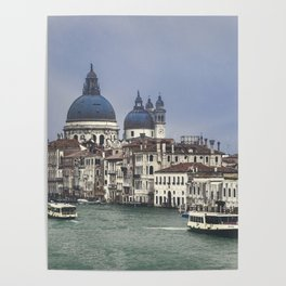 Venice Cityscape Grand Canal, Italy Poster