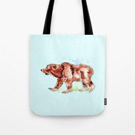 Bear Watercolor Tote Bag
