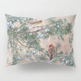 Winter Pair Cardinals (sq) Pillow Sham