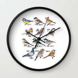 Birdwatching Birder Gift Wildlife Birds Wall Clock