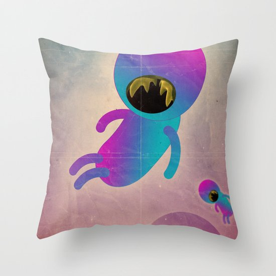 bimbo cosmico Throw Pillow