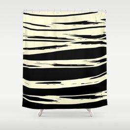 black + vanilla Shower Curtain