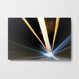 Tunnel Lichter Metal Print