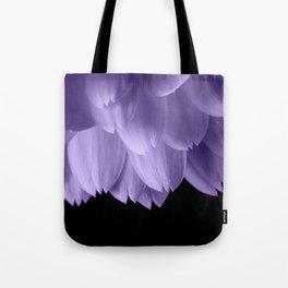 Ultra violet purple flower petals black Tote Bag