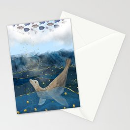 The Sea Lion's Dream - the race for food in warming oceans Stationery Cards