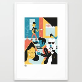 Ordinary day in brussels Framed Art Print