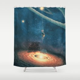 My dream house is in another galaxy Shower Curtain