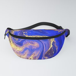 Marble gold and deep blue Fanny Pack