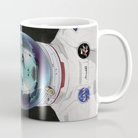 pilot Mugs featuring Miss Space Pilot by SEVENTRAPS