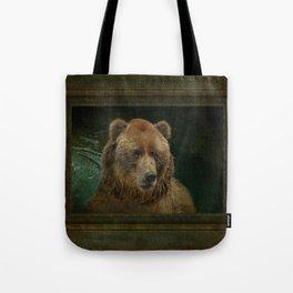 Bear in the pool Tote Bag
