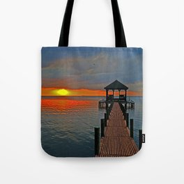 Down the Long dock Tote Bag