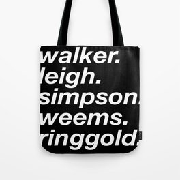WOC curators and artists (black version) Tote Bag